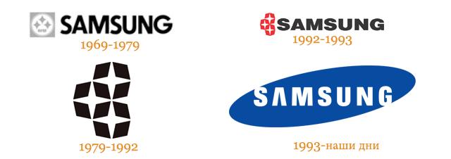 Логотипы Samsung разных лет