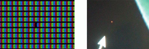 Битый и горящий пиксель