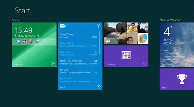 Живые плитки в Windows 9