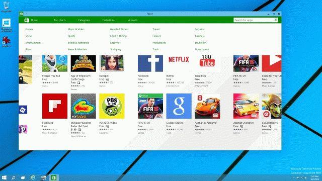 Магазин приложений  в Windows 10