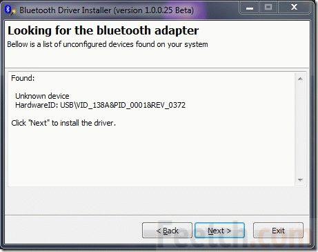 Установка драйвера Bluetooth