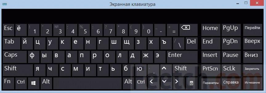 Как вывести клавиатуру на экран 95
