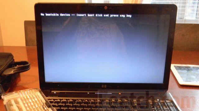 Ноутбук не смог загрузить Windows