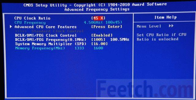 Смена множителя CPU