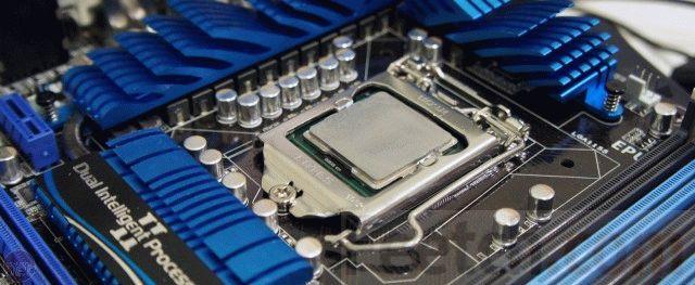 Процессор Intel в материнской плате