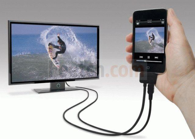 Телевизор подключен к телефону
