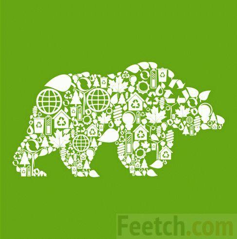 Коллаж Медведь из пиктограмм