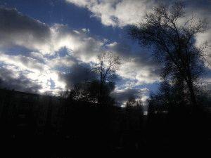 Небо в области солнца