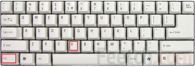 Клавиши ctrl v - вставка скриншота