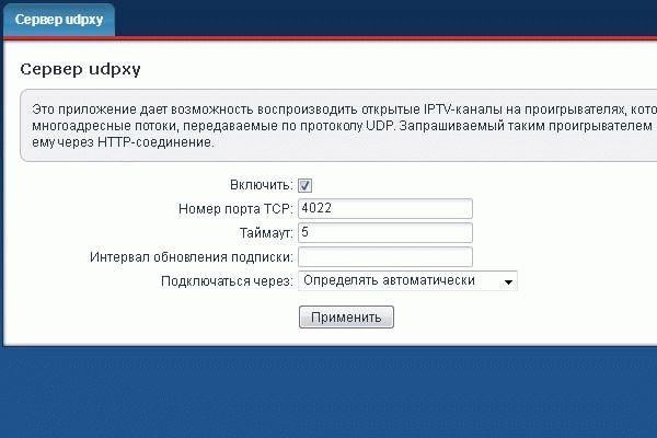 адрес порта UDPXY