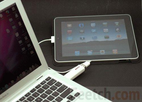 iPad подключен к ноутбуку