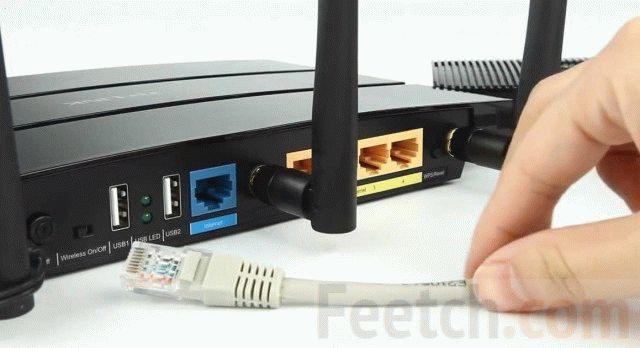 Подключение кабеля к Wi-Fi роутеру