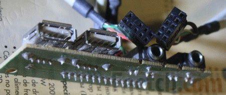 Совмещённый модуль для фронтальной панели системного блока