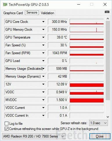 GPU-Z Sensors