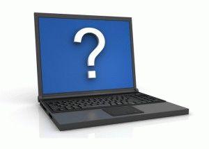 Ноутбук под вопросом