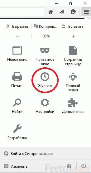 Журнал в Firefox