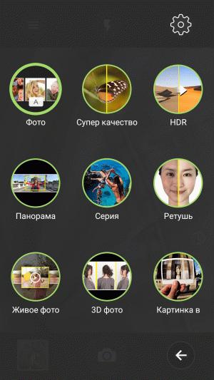 Режимы камеры