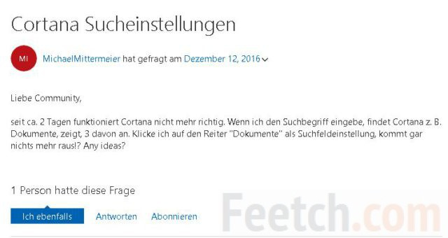 Запрос на немецком языке
