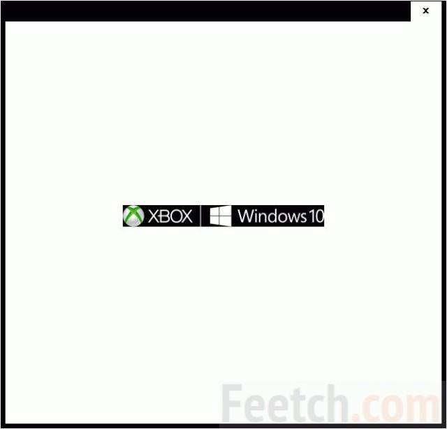 Стандартное окно запуска Xbox