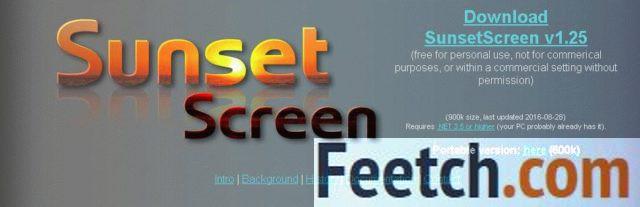 Приложение SunsetScreen