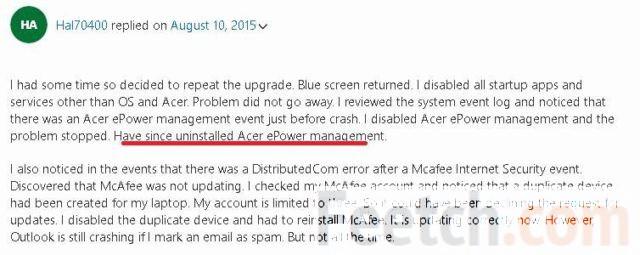 Жалоба от пользователя ноутбука Acer