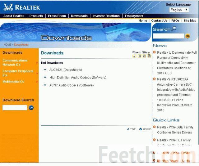 Установите драйвер RealTek
